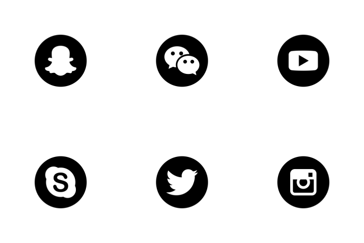 White Instagram Logo clipart.