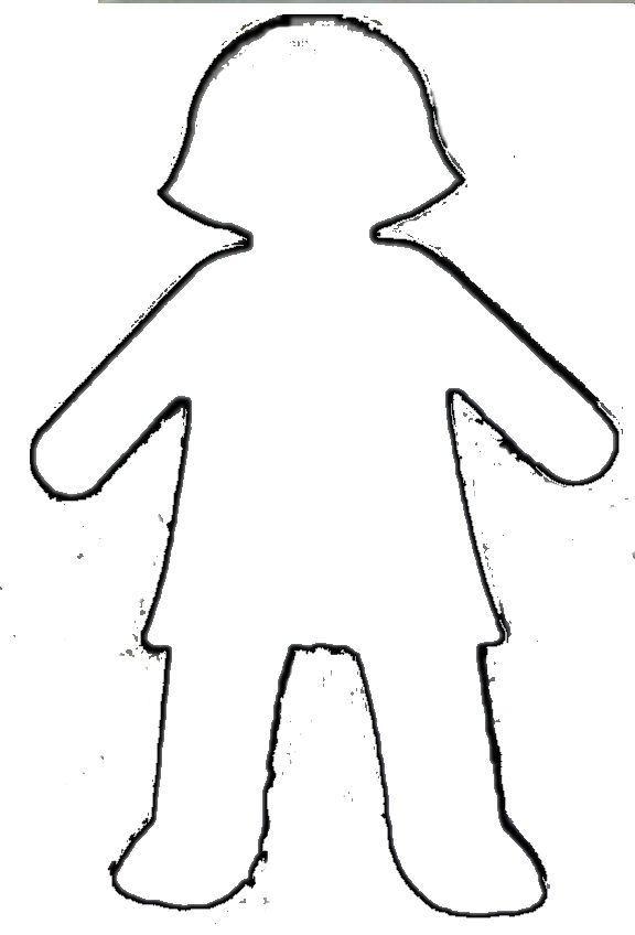 woman body outline clipart