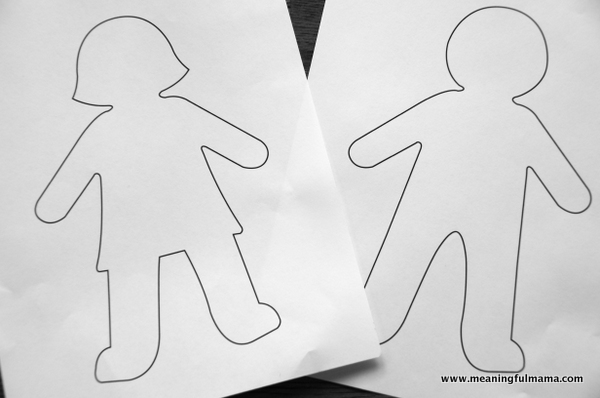 Small Clipart Of Girl And Boy Cutouts.