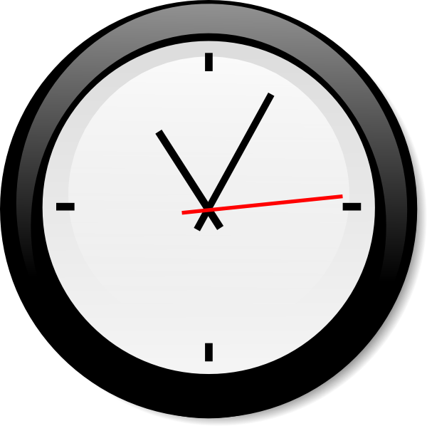 Modern Clock Clip Art at Clker.com.