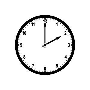 Clock 2:00 Clipart.