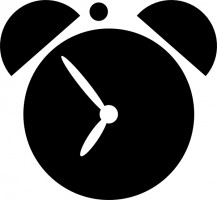 Small clock clipart.