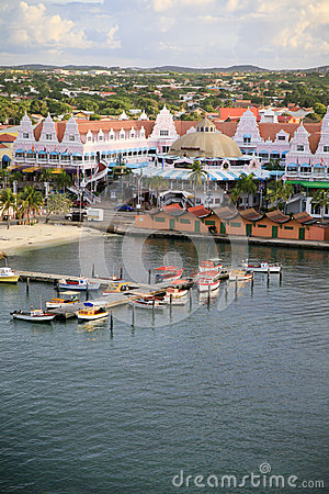 Oranjestad, Aruba, Skyline Editorial Photo.