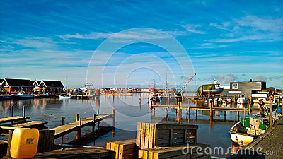 Small Harbour In The Curonian Spit, Lithuania Stock Photography.