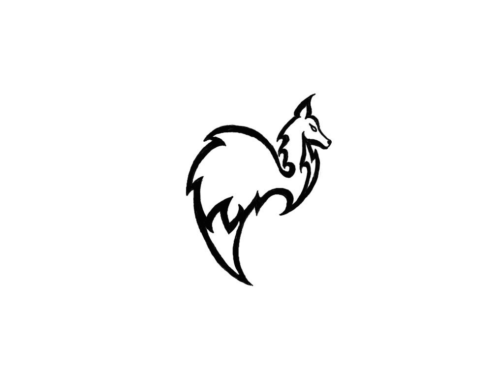 Wallpapers Simple Design Free Designs Tribal Small Fox.