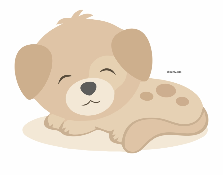 Peachpuff Cute Small Dog Clipart Png.