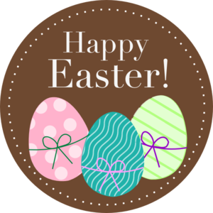 731 Easter Eggs free clipart.
