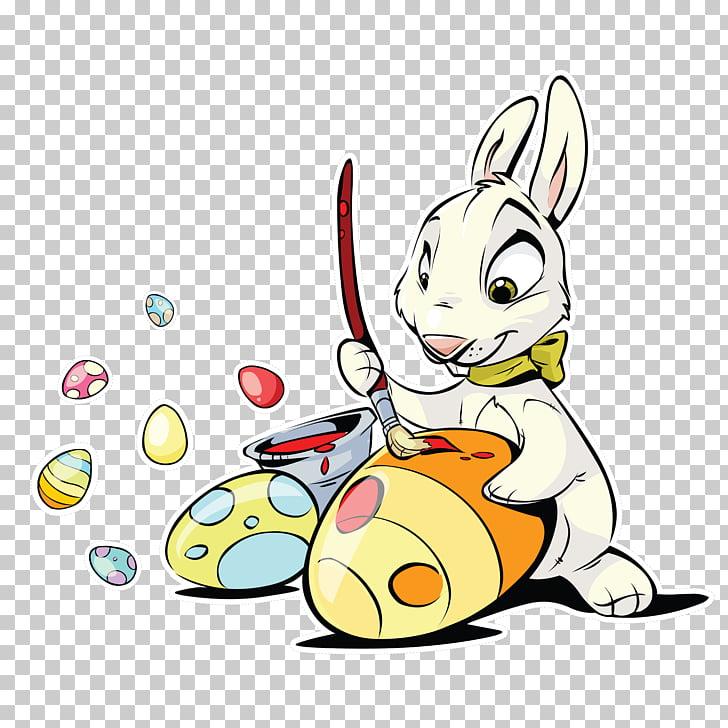 Easter Bunny Easter egg Rabbit , Cartoon small rabbit eggs.