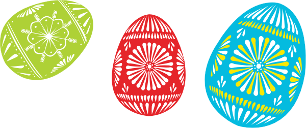 Colour Easter Eggs Clip Art at Clker.com.