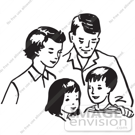 Small family clipart black and white 2 » Clipart Station.