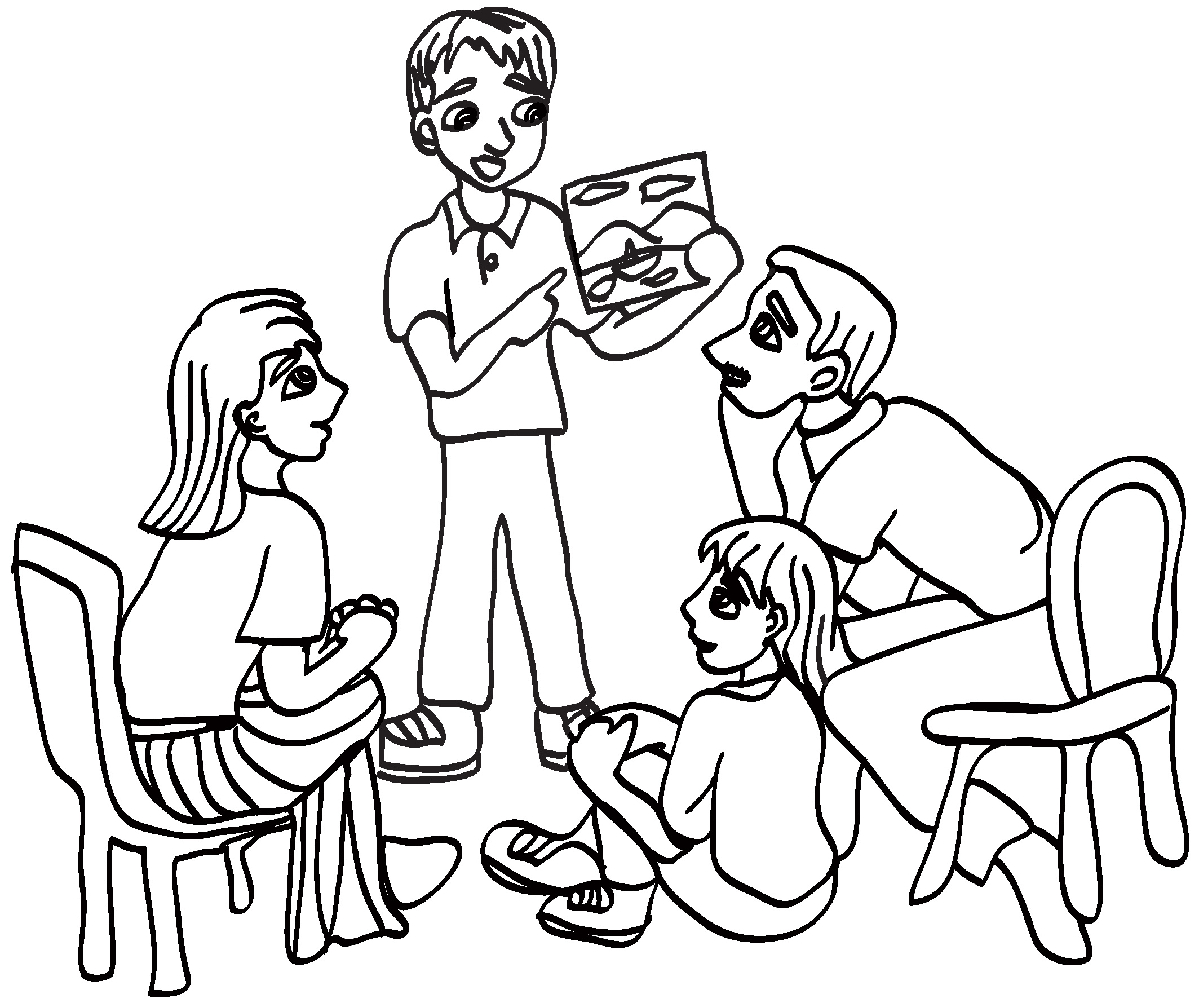 Small family clipart black and white 4 » Clipart Station.