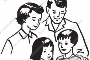 Small family clipart black and white 1 » Clipart Station.