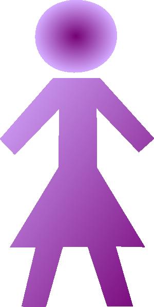 Purple Female Stick Figure Clip Art at Clker.com.