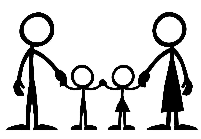 Clip Art Stick Figure Family Clipart.
