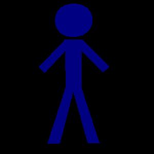 Stick figure: male SVG Vector file, vector clip art svg file.