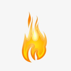 Small fire PNG clipart.