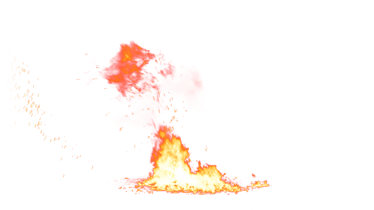 Small Fire on the Ground PNG Image.