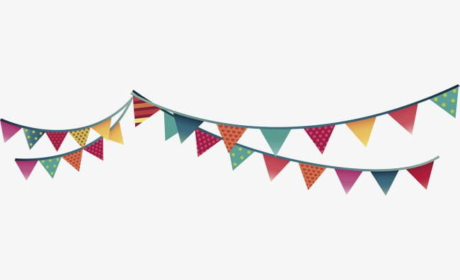 Color Small Flag Material PNG, Clipart, Birthday, Birthday.