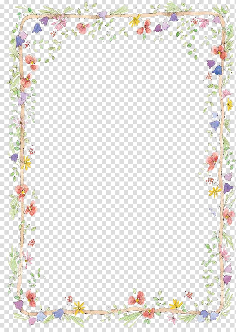 Floral border template, Border Flowers , free to pull hand.