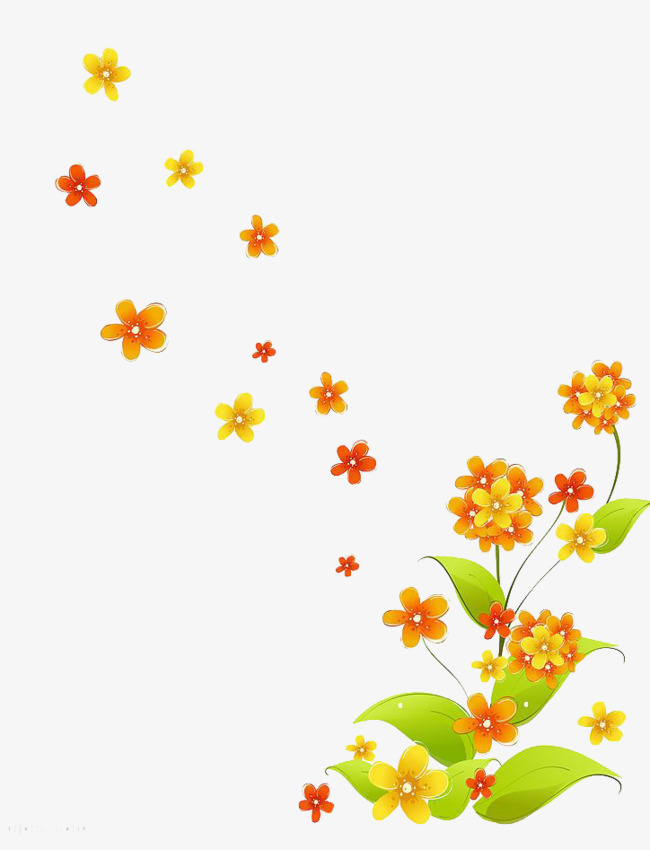 Download Free png Falling Little Flowers, Falling, Small.