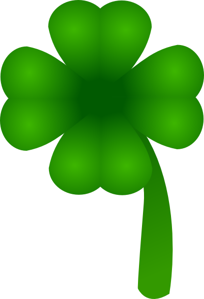 Four Leaf Clover Clip Art at Clker.com.