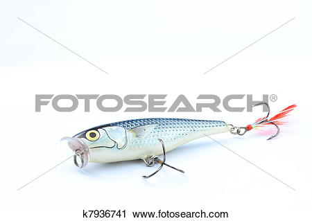 "Stock Photography of Bait style popper on ""Sil"" or small fresh."