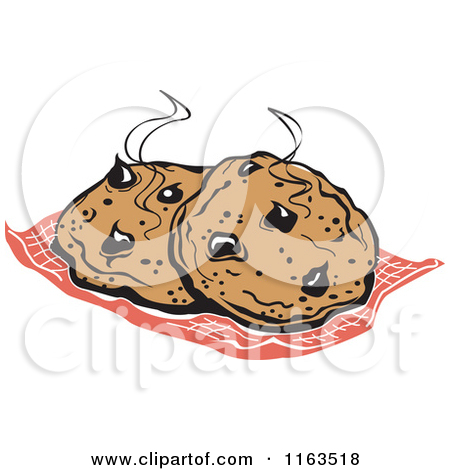 Clipart of Fresh Hot Cocolate Chip Cookies.