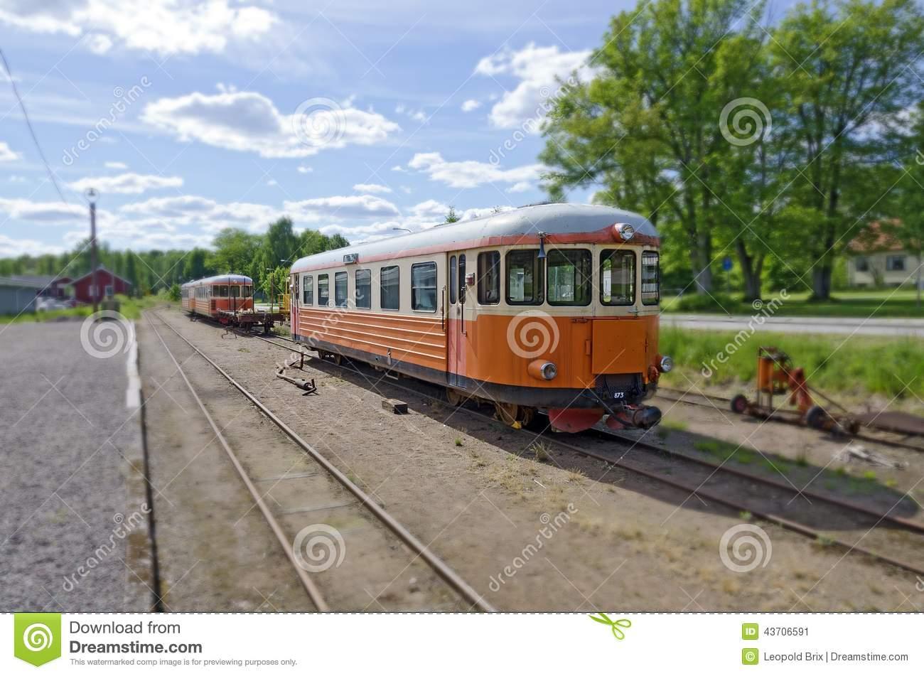 Train Of A Swedish Narrow.