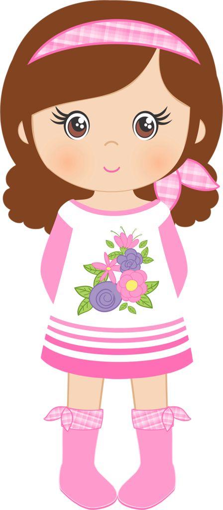 small Girl clip art.