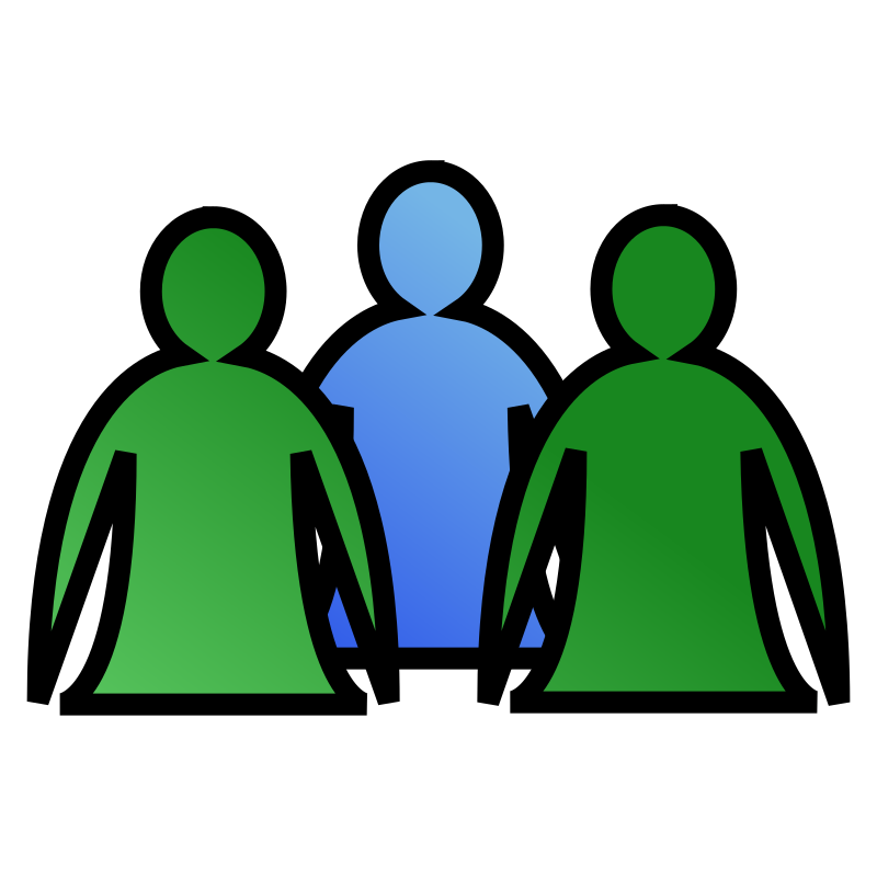 Small Group Of People Clipart.