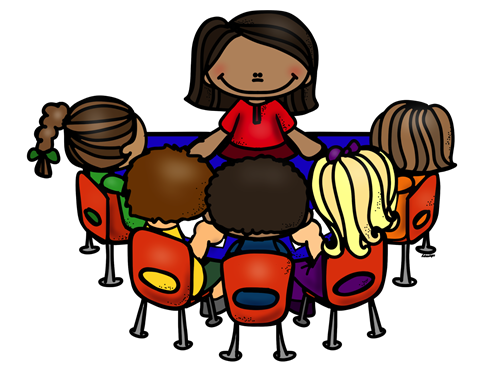 Teacher Small Group Clipart.