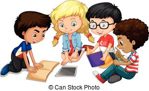 Classroom Group Work Clipart.