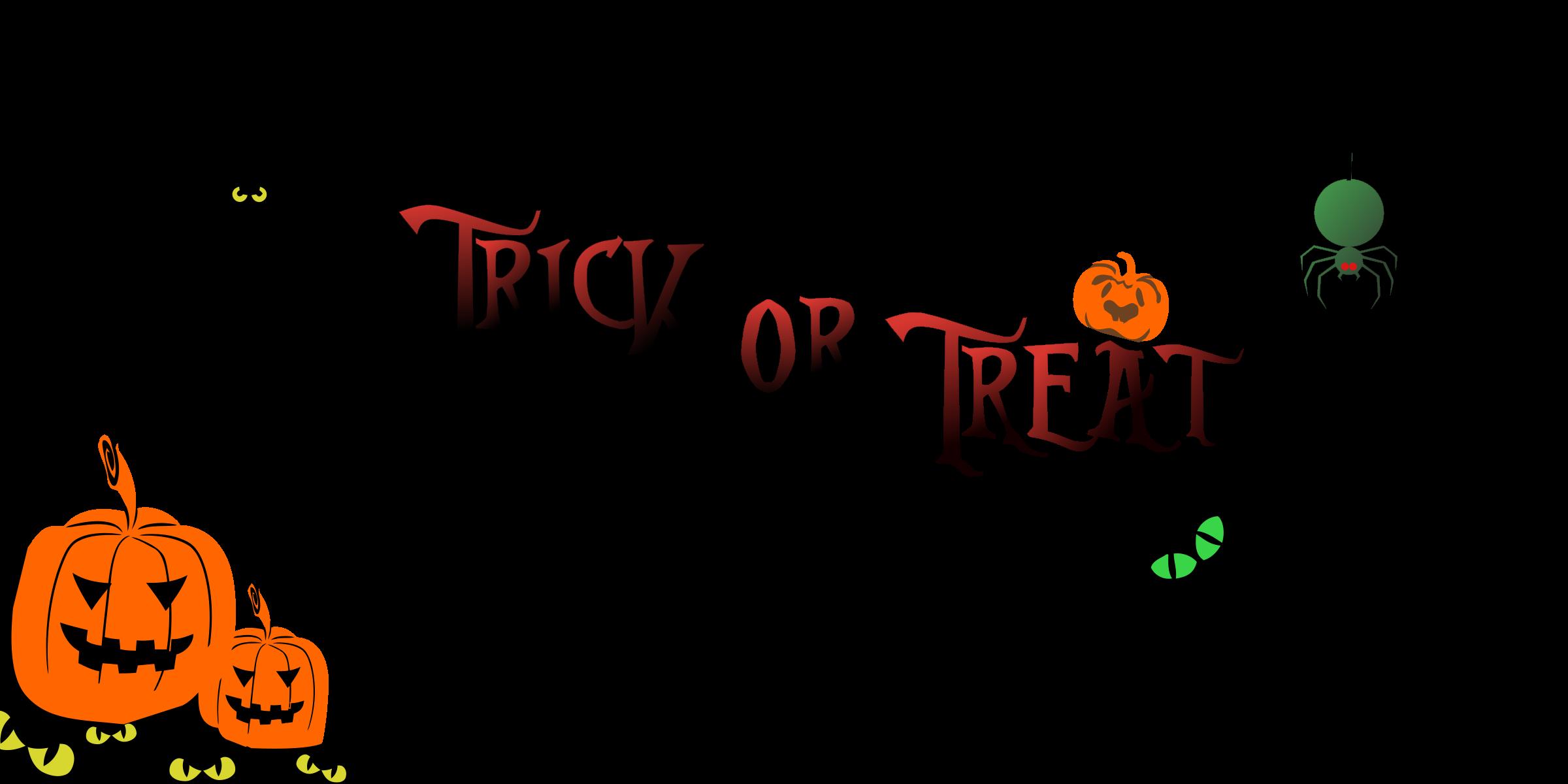 Halloween clip art banner.