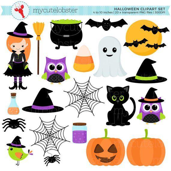 Halloween Clipart Set.