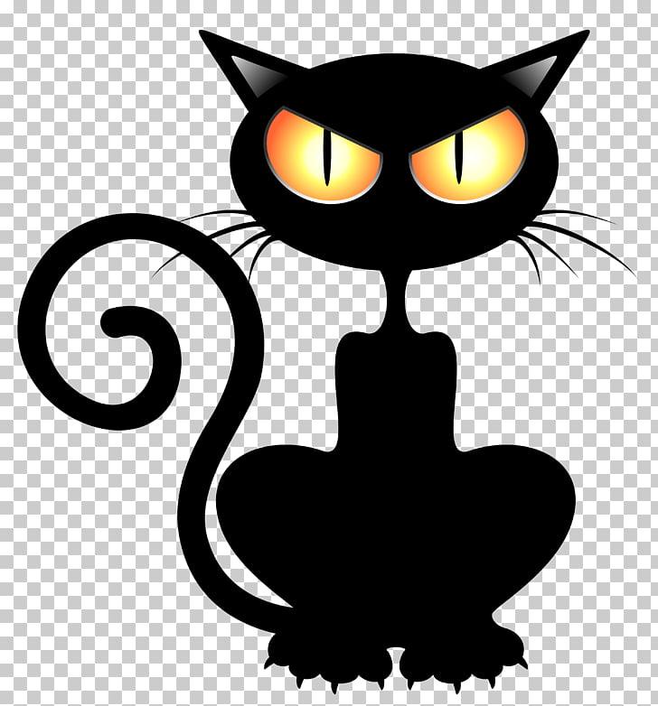 Black cat Kitten Halloween , cats PNG clipart.