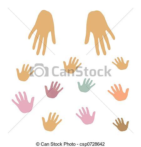 Clip Art of hands giving.