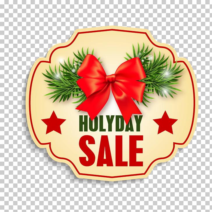 Santa Claus Christmas Holiday, Small labels Christmas PNG.
