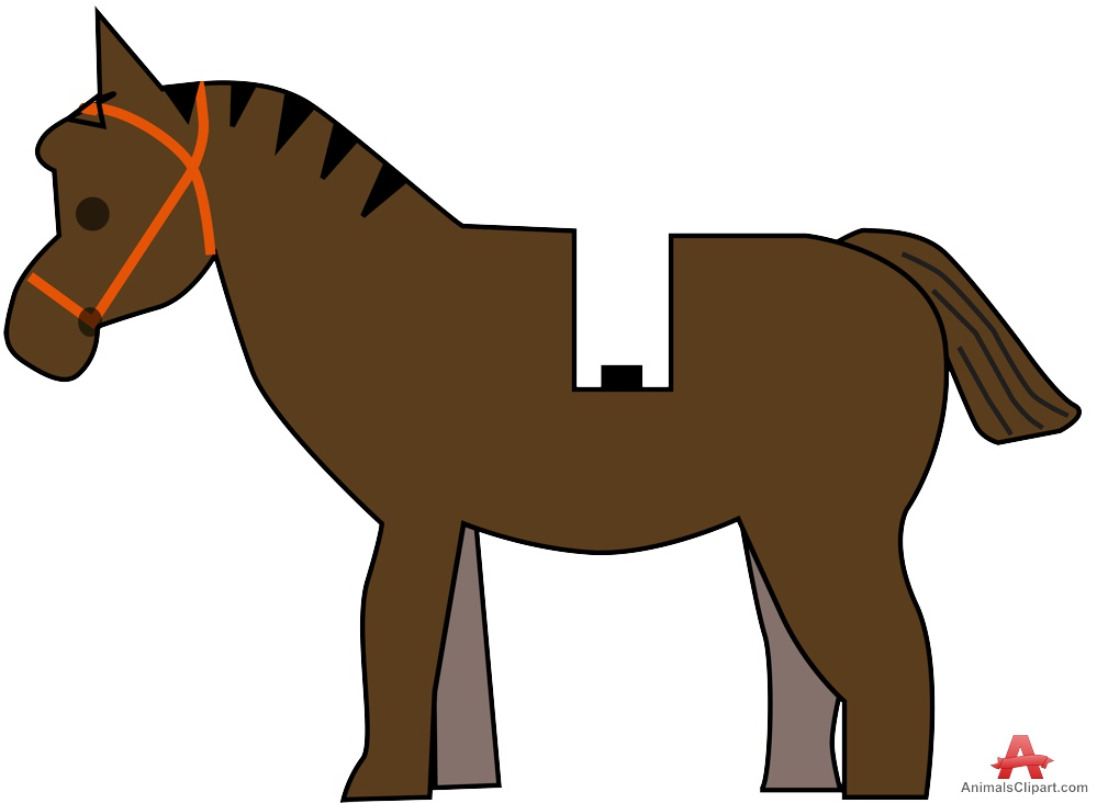 Small Horse Cimple Clipart.