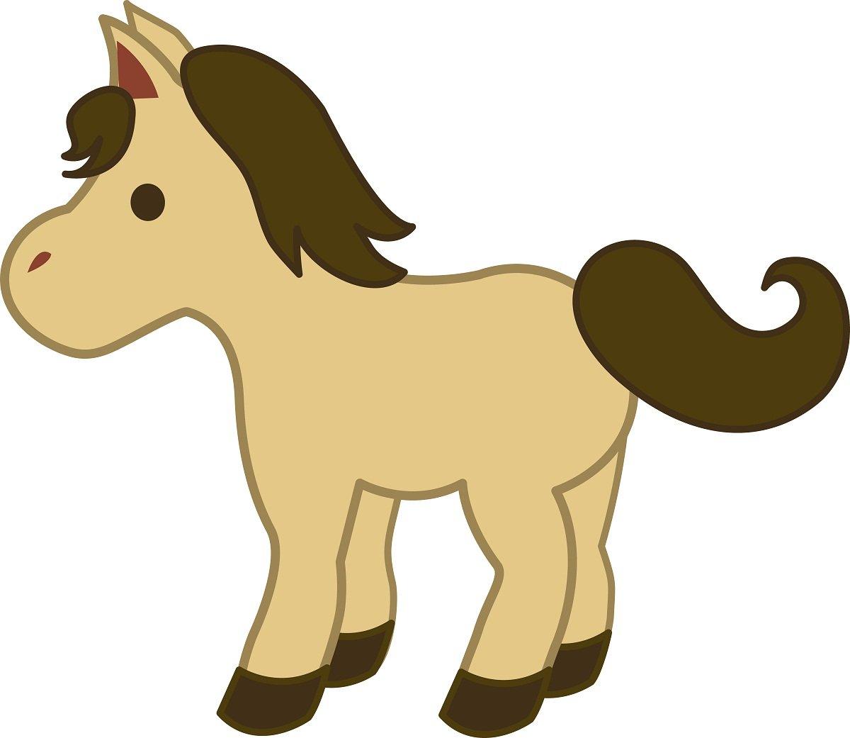 dibujos caballos infantiles.