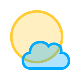 Sun Small Cloud Icon.