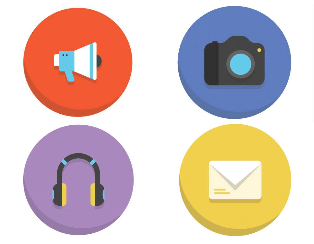 45 Colorful Flat Icons [Freebie] — Smashing Magazine.