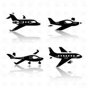 Airplane Silhouette Clipart.
