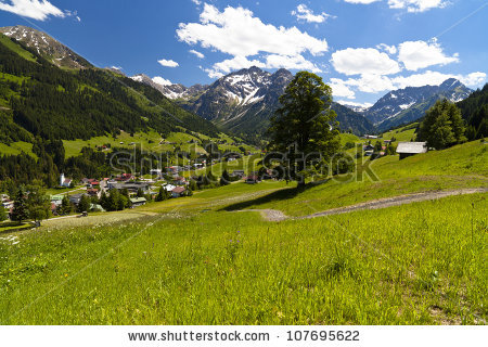 Kleinwalsertal Austria Stock Photos, Images, & Pictures.