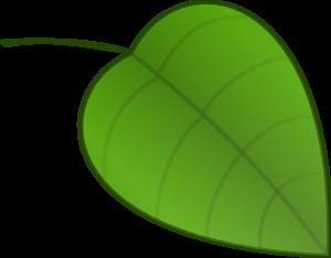 Small leaf clip art.