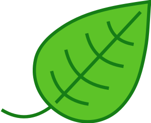 Small Leaves Clip Art.
