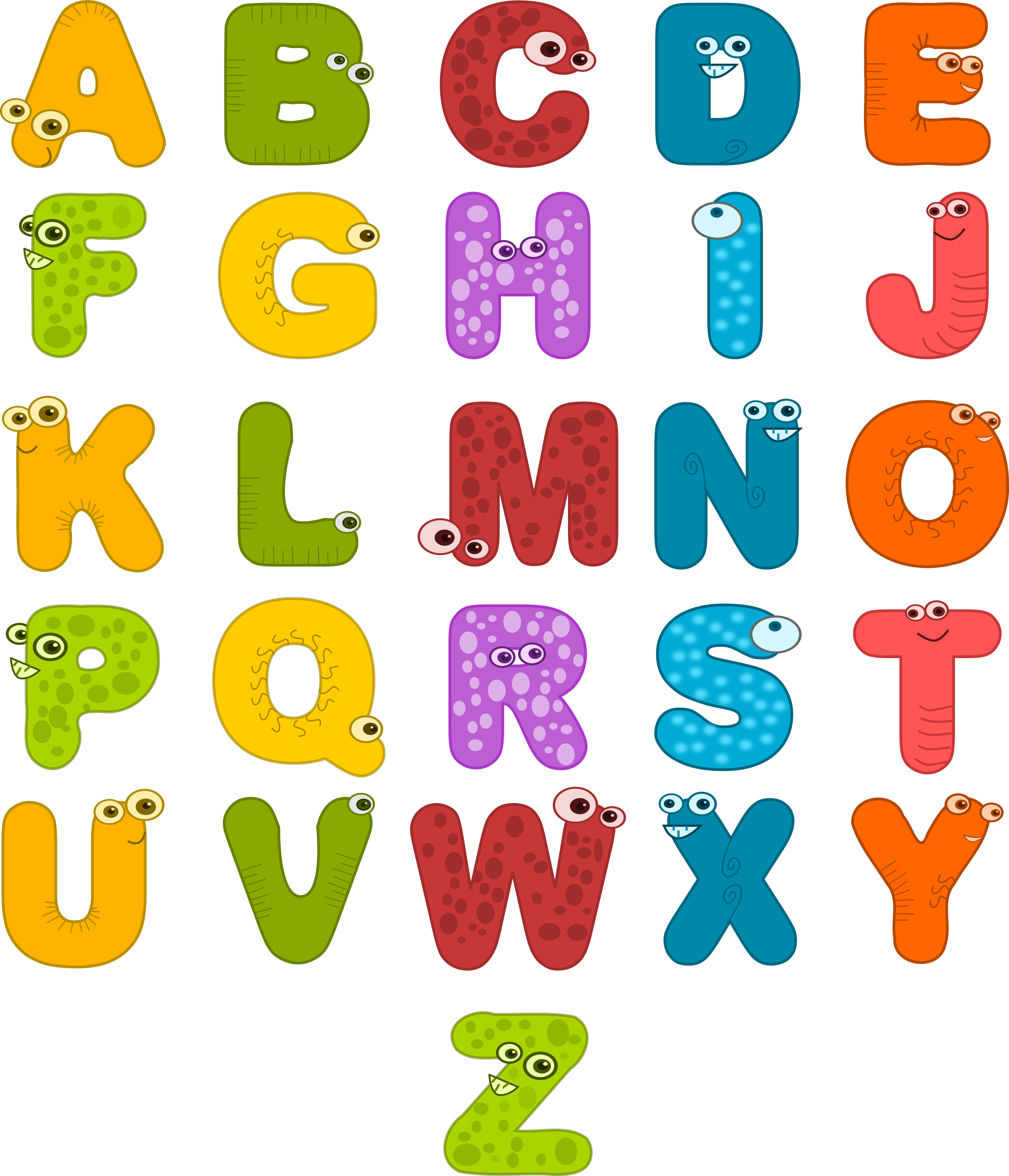 Animal Letters Clip Art.