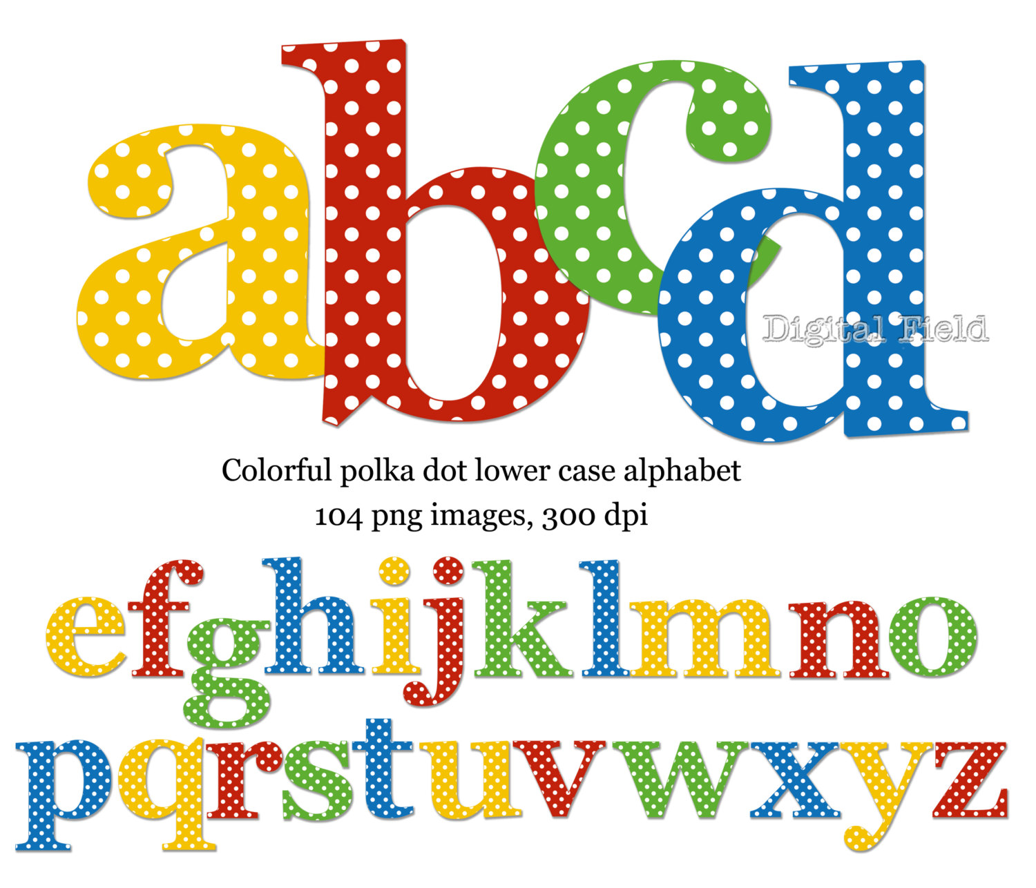 Polkadot letter clipart clipground for Dots alphabet letter