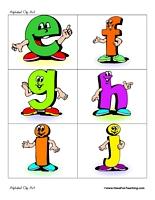 Small alphabet letter clipart.