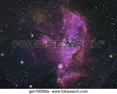 Stock Images of NGC 346, Open Cluster and Nebula Complex in the.