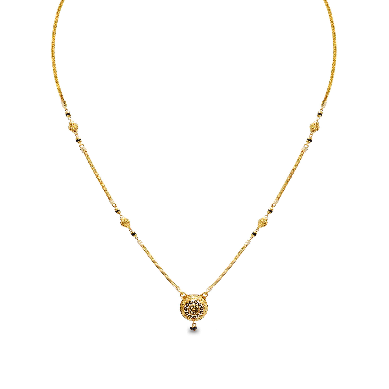 Anindita Short Fancy Gold Mangalsutra.